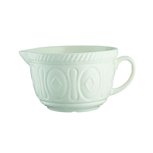 Mason Cash Colour Chip Resistant Earthenware Batter Mixing Bowl-Cream, Ceramic 26 x 19.7 x 13 cm
