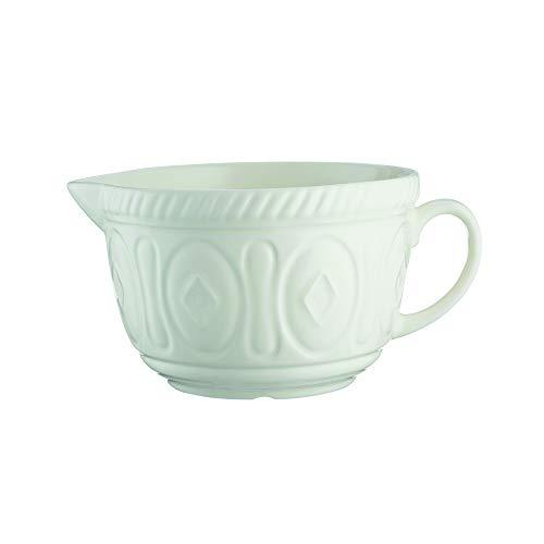 Mason Cash Colour Chip Resistant Earthenware Batter Mixing Bowl-Cream, Ceramic 26 x 19.7 x 13 cm