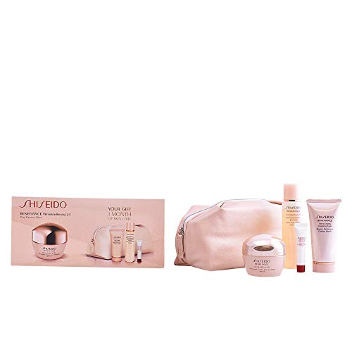 Shiseido - Benefiance - Crema de día anti-arrugas + Espuma limpiadora + Loción suavizante enriquecida + Serum activador energizante - 1 pack