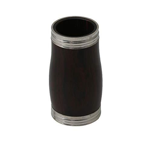 Klarinetten-Stimmröhre aus Ebenholz Ebenholzholz Zwei Stimmröhren-Klarinetten-Laufteile Zubehör mit Metallring 60mm