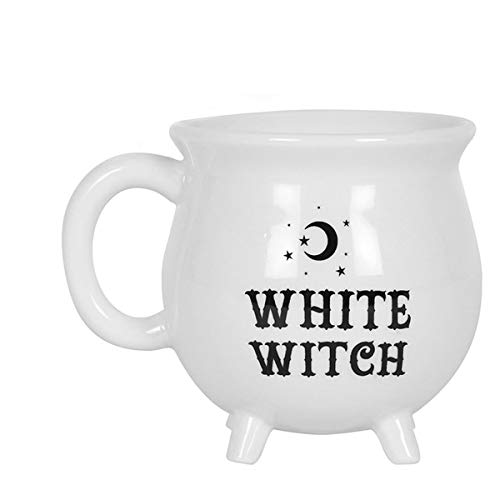 White Witch Cauldron Mug Stoneware Tea Coffee Soup Cup with Gift Box - Friendship Mugs Cup, Always Remember, Best Friends Gifts for Women Men, Birthday Presents from Him Her Mothers Day