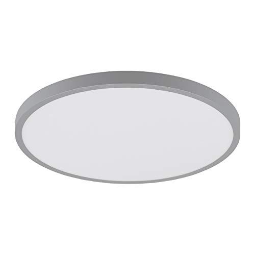 EGLO LED plafondlamp Fueva 1, 1 lamp plafondlamp, Ø: 40 cm, kleur: zilver, wit, warm wit, materiaal: aluminium, kunststof