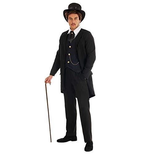 Fun Shack Negro Caballero Victoriano Disfraz para Hombres - L