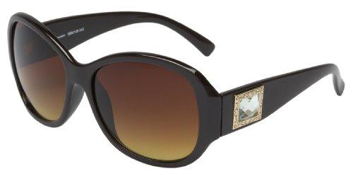 Schöne Marken Sonnenbrille für Damen von Burgmeister mit 100% UV Schutz | Sonnenbrille mit stabiler Polycarbonatfassung, hochwertigem Brillenetui, Brillenbeutel und 2 Jahren Garantie | SBM109-242