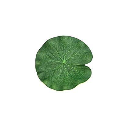 3 Pack Green Stimulation Lotus Leaves Floating Foam Lotus Leaves for Patio Garden Koi Fish Ponds Pool Aquarium Ornaments