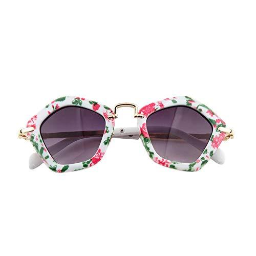 Chifans Chifans Baby Sonnenbrille Polygonal Polarized Kinder Sonnenbrille Schutz Unisex Retro Vintage Style Shades UV-Schutz Geeignet für Alter von 6 bis 12 Jahren Kinder Mädchen Jungen