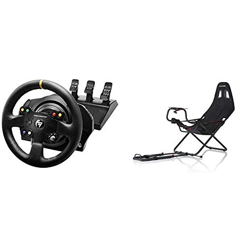 ThrustMaster TX Racing Wheel Leather Edition -  Volante -  XboxOne/PC - Force Feedback -  3 Pedales -  Licencia Oficial Xbox + Playseats Challenge -  Silla de Juego para PS 2,  PS 3,  Xbox,  Xbox 360,  Wii
