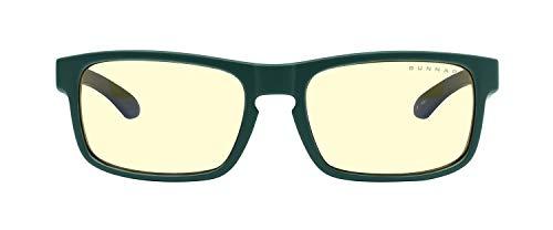 Gafas GUNNAR para juegos y computadoras | Enigma | Gafas de bloqueo de luz azul | Lente patentada, 65% protección de luz azul, 100% luz UV | Reduce la tensión y sequedad de los ojos