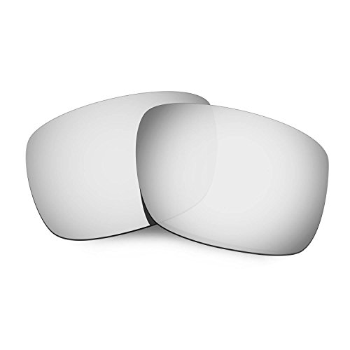 HKUCO Mens Replacement Lenses For Oakley Drop Point Sunglasses Titanium Mirror Polarized