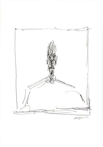 "Alberto GIACOMETTI Buste 27.5"" x 19.25"" Poster Modernism Black & White, White"