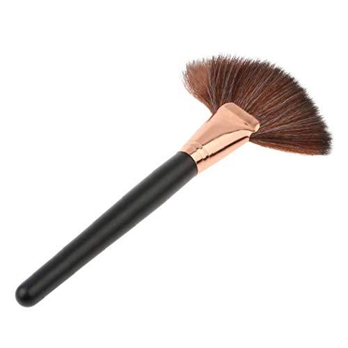 1pc Maquillaje Cosmético Del Cepillo Del Cepillo Del Ventilador Para De Resaltado Rubor En Polvo De Contorno Bronceador Pómulos
