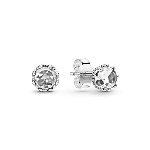 Pandora Jewelry Sparkling Crown Stud Cubic Zirconia Earrings in Sterling Silver