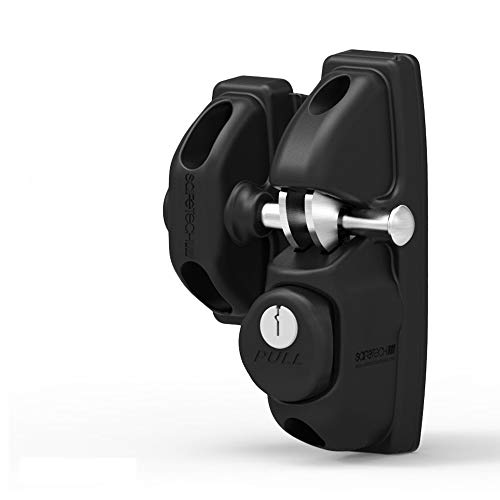 Safetech Viper - X1 Vinyl Gate Latch Key Lockable Gate Lock with Independent Latching Hooks