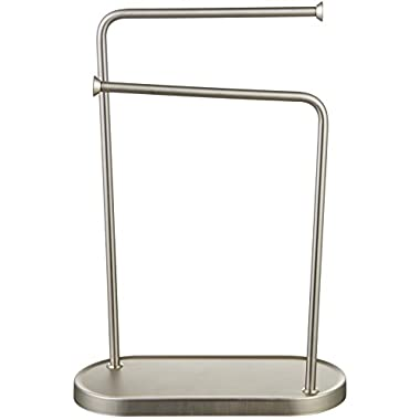 AmazonBasics Double-L Hand Towel and Accessories Stand - Nickel