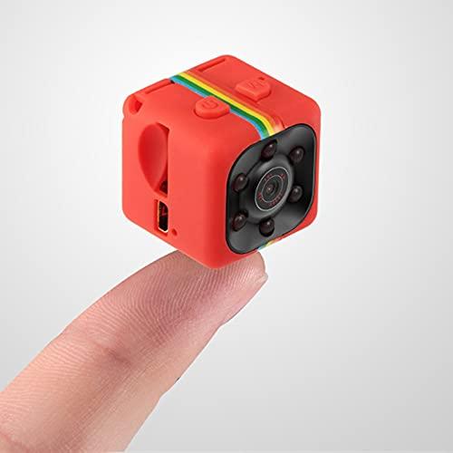 JIASHIQI Mini Cámara Micro Video SQ11 480P / 1080P KAMERA PEQUEÑO DV DVR Pocket CAMARAS HD Cuerpo CAM Support Hidden TF Tarjeta (Bundle : CAM with 32G TF Card, Color : Red 480P)