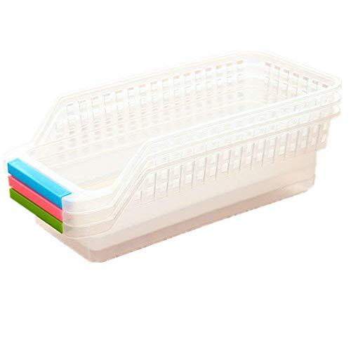 DIVISTAR Auslaufsichere Lebensmittel-Aufbewahrungsbehälter, Küchenschrank, Trennwand, Aufbewahrungsregal, Bürotisch, Schublade, Platzsparer, Organizer (zufällige Farbe) 3 Stück