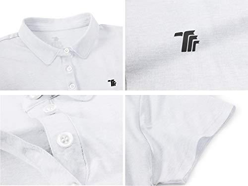 YSENTO Womens Short Sleeve Polo Lady-fit Shirt Premium Sports Golf Polo T-Shirts(White,XXL)
