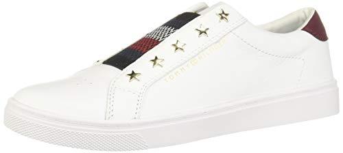 Tommy Hilfiger FW05225 YBR - Zapatillas Bajas Mujer Blanco Talla 40