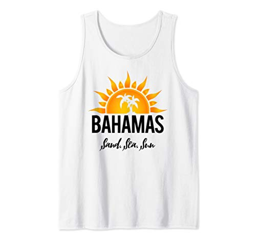 Bahamas, Sand, Sea and Sun! Bahamian Vacation Tank Top