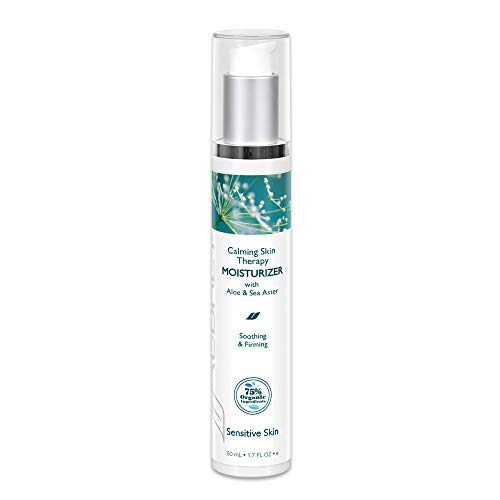 Aubrey Calming Skin Therapy Moisturizer | Soothes, Softens & Hydrates Sensitive Facial Skin | Sea Aster & Aloe Vera | 75% Organic Ingredients | 1.7oz