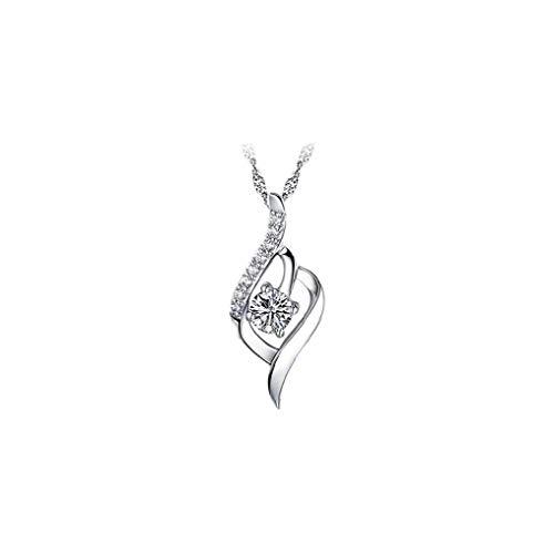Collier Femme Argent diamant Collier Femme Argent 925 Déclaration pendentif en cristal c pour Bijoux Femmes Mode Accessoires Beauté Art