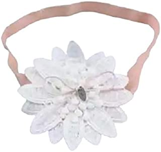 Pink Lace & White Flower Hair Accessories for baby girl head band hair band headwear