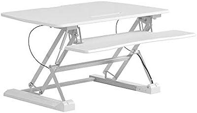 Seville Classics OFF65808 Tavolino da Lavoro Regolabile in Altezza, Metallo, Bianco, 90 cm x 59 cm 69 cm x 15 bis 48.5 cm (LxBxH)