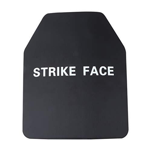 DOITOOL 1 st skottsäker platta hörnsnitt stil skottsäker väst platta träningsplatta för väst ryggsäck män (svart 4,5 mm)