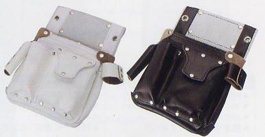 KOZUCHI SH-503/白 コヅチ 大工・仮枠用具皮製品シリーズ 釘袋 釘袋ポケットフタ付サイド差付