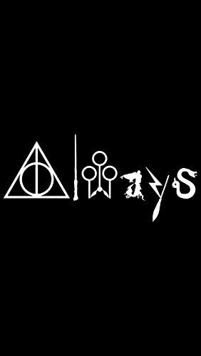 Harry Potter Deatly Hollow Always Logo-Aufkleber für Autos, Tablets, Laptops, Skateboard, 14 cm, Weiß