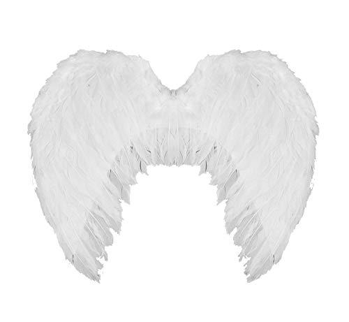 0207VP733SS ILOVEFANCYDRESS Grand Blanc Ailes d'ange avec Plumes
