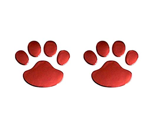 2 STKS Auto Sticker Cool Ontwerp Poot 3D Dier Hond Kat Voetafdrukken Voetafdruk 3M Sticker Auto Stickers, A