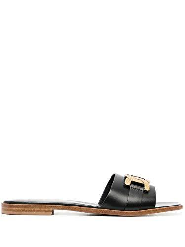 Tod's Luxury Fashion Damen XXW05G0EK30GOCB999 Schwarz Leder Sandalen   Ss21