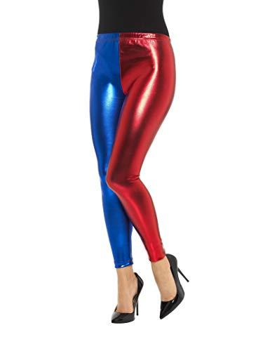 Smiffys Mallas de disfraz de bufón, metlico, azul y rojo , color/modelo surtido