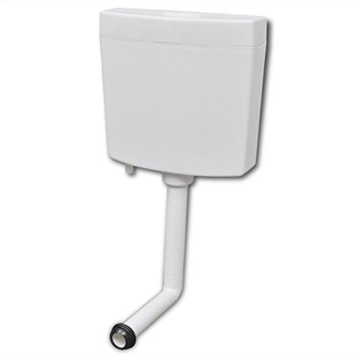 vidaXL Cisterna de Inodoro Váter WC 3/6 L con 2 Botones de Descarga Blanca