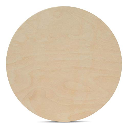 20 Inch Wooden Circle Plaques 1/2 Inch Thick, Package of 1, Unfinished Baltic Birch Wood by Woodpeckers