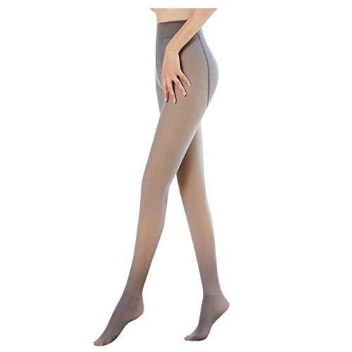 Collant da donna in peluche, sexy, perfetto per rimuovere le gambe, traslucido, caldo, in pile