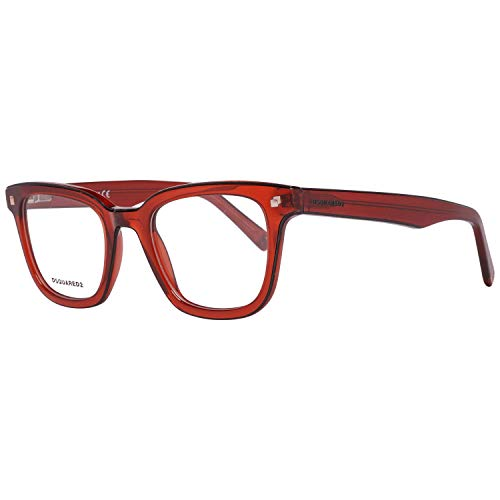DSQUARED2 Brille Dq5165 090 49 Montature, Rosso (Red), 49.0 Uomo