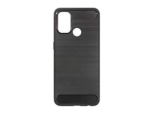 etuo Hülle für Oppo A53 - Hülle Forcell Carbon - Schwarz Handyhülle Schutzhülle Etui Hülle Cover Tasche für Handy
