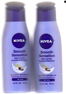 Nivea Smooth Sensation Body Lotion 2.5 Fl. Oz. (Pack of 2)
