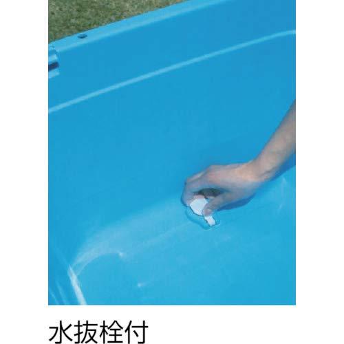 新輝合成トンボ『角型タライジャンボ水抜栓付120型』