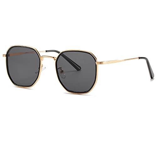 WANGZX Gafas De Sol Cuadradas Retro para Mujer Gafas De Sol De Lente Gradiente Retro para Mujer Gafas De Sol para Mujer Uv400 Dorado-Negro