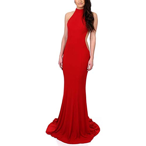 Faviana Womens Prom Halter Evening Dress Red 00