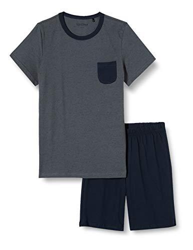 Schiesser Jungen Anzug Kurz Zweiteiliger Schlafanzug, Grau (dunkelgrau 205), (Herstellergröße:164)