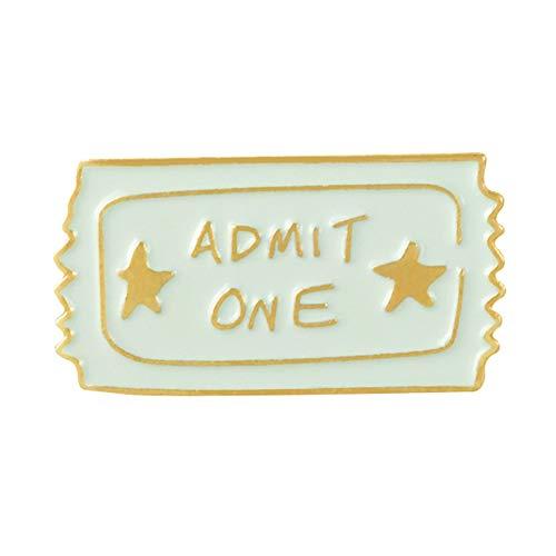 HaHawaii Brooch Pins for Women, Men Cute Cartoon Coke Popcorn Movies Ticket Brooch Pin Badge Jewelry Gift - CC842