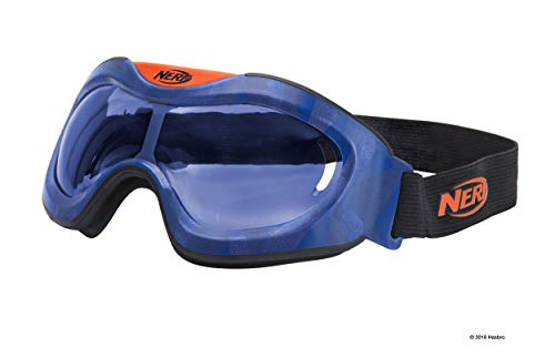 Nerf Elite Battlebrille Blau 11558 hochwertige Brille mit größenverstellbaren Riemen im sytlischen Nerf Elite Design, für actionreichen Spielspaß