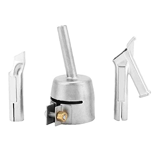 Welding Nozzle Tip Round Speed Nozzles for PVC Plastic Hot Air Blower with Tacking Nozzle Push Y Type Welder Tips 3PCS Electronic welding