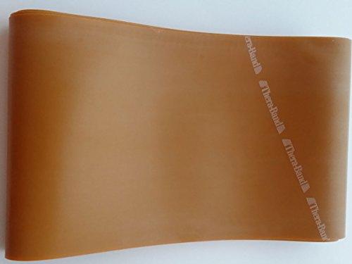 Thera-Band Fascia elastica per allenamento, circa 3 m lunga, con libro di esercizi incluso 3m di lunghezza., Gold, 3 m