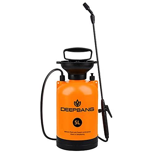 噴霧器 霧吹き 背負い式 ポータブル蓄圧式噴霧器 プレッシャー 手動式 容量5L リットル 軽量 持ち運び 消毒 ペットバス 園芸水やり家庭の掃除 洗車