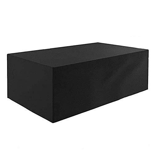YQGOO Cubierta De Muebles,Impermeable Anti-UV Resistente Al Desgarro Tela Oxford Fundas para Muebles De Jardín con Cordón Varios Tamaños